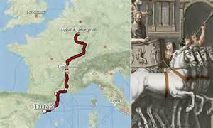 google caesar view map  ancient roman roads  sea