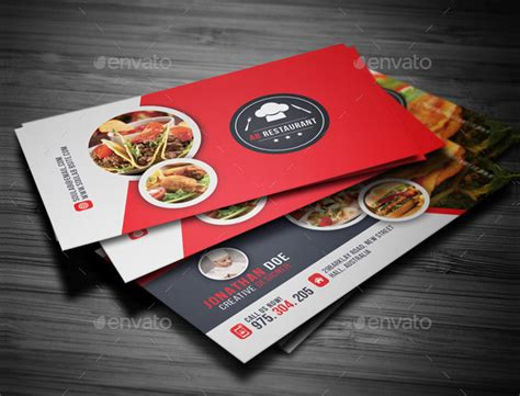 restaurant business cards templates free 25 restaurant business card templates free premium