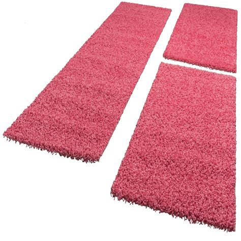 bedside rugs bedside runner rug 3 part carpet runner set shaggy carpet in pink carpets bed surrounds