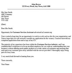 Application Letter Customer Service Post Reply