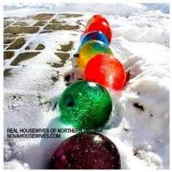 water balloons with food coloring balloons frozen and water on