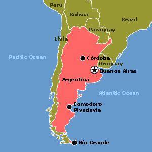 south america argentina map argentina es en south america la capital es buenos aires