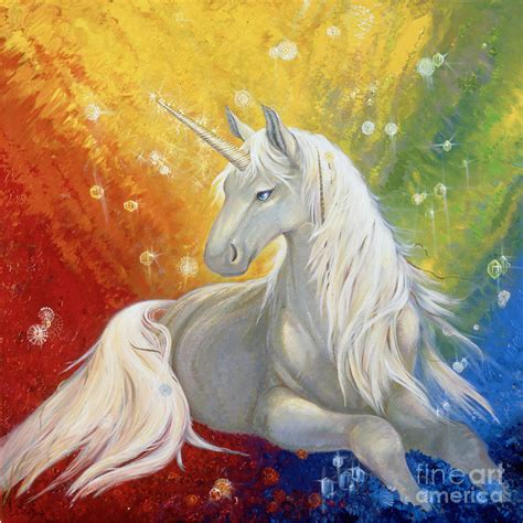 painting unicorn unicorn rainbow painting by duran