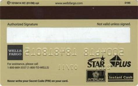 Gift Card Wells Fargo - bank card wells fargo atm card wells fargo united states of america col us un 0016