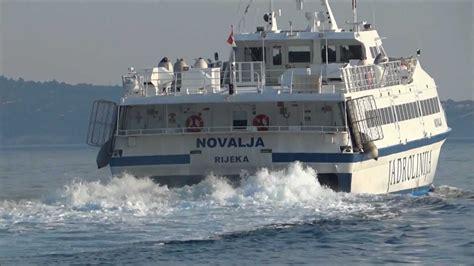 ferry catamaran novalja catamaran novalja leaves the town of rab port island