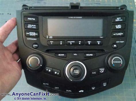 honda accord 2004 radio 2004 honda accord radio display not working