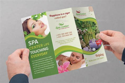 spa brochure spa saloon tri fold brochure bundle v4 by