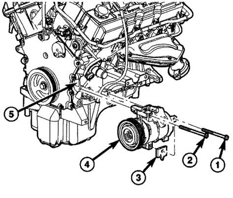2005 chrysler 300 oil filter bolt seal install repair guides compressor removal installation