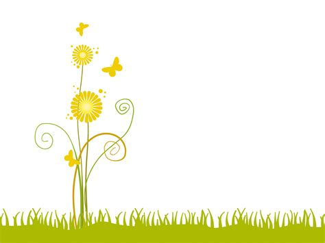 yellow flowers for nature backgrounds presnetation ppt