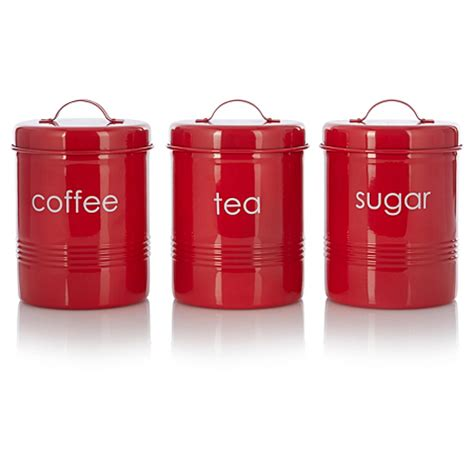 Kitchen Canisters Asda George Home Tea Coffee And Sugar Canister Set