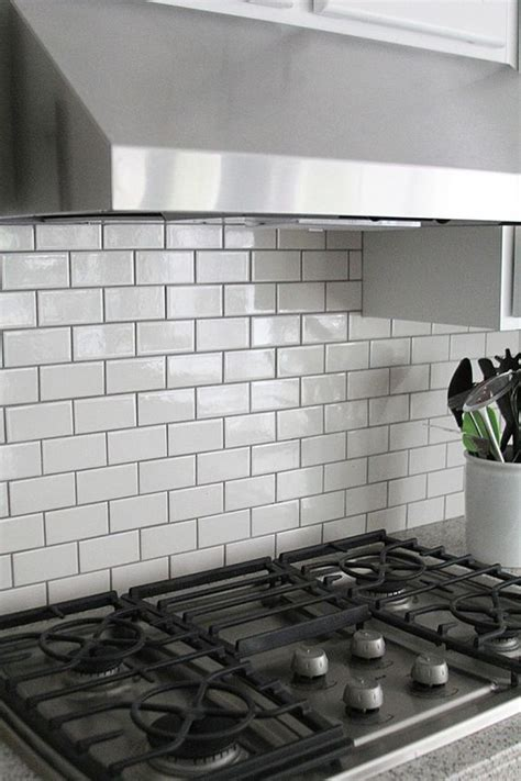 grouting kitchen backsplash subway tile backsplash grey and white subway tile