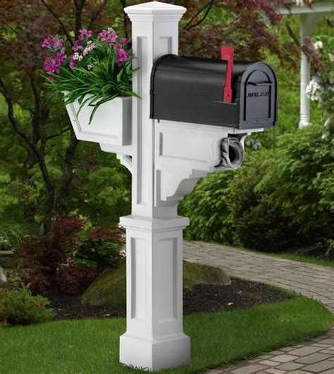 Mailbox Post With Planter by Mailbox Post With Planter Signature Plus In Home Mailboxes