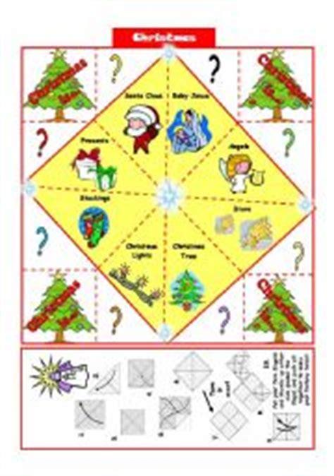 printable christmas fortune teller english teaching worksheets fortune teller future tenses