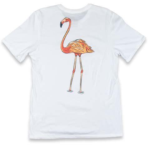 Atasan Flamingo White Shirt Nike Sb Df Flamingo T Shirt White