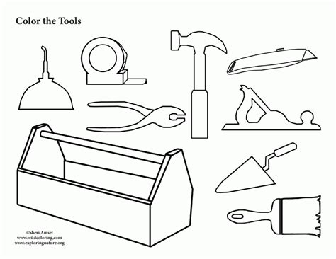tools coloring pages preschool tool box coloring page coloring home