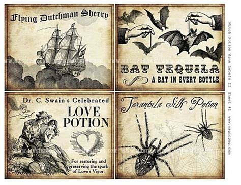 printable potion labels share
