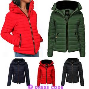 new womens quilted padded puffer fur collar