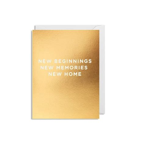 new beginnings new memories new home mini card white