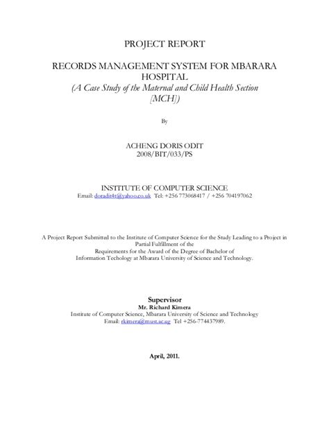 Review Related Literature Database Management System by Literature Review For Hospital Management System