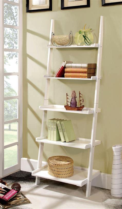 white ladder shelf bookcase sion contemporary white ladder shelf bookcase