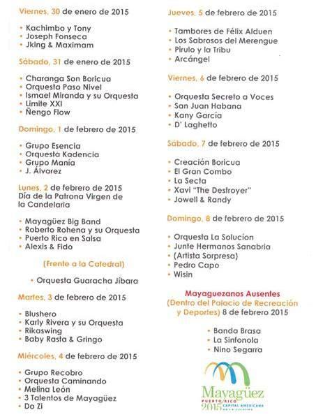 calendario fiestas patronales puerto rico 2016 mayag 252 ez inicia sus tradicionales fiestas patronales 2015