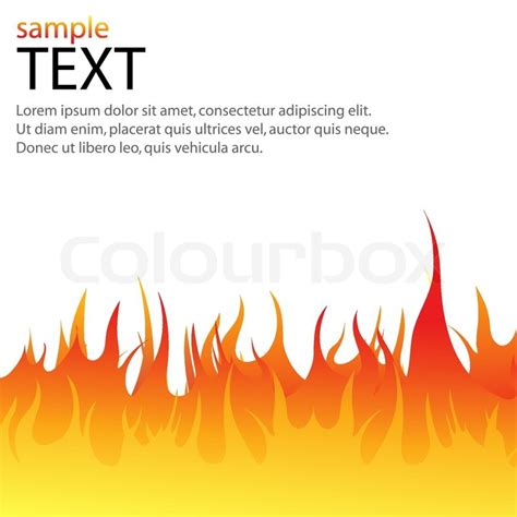 illustration of vector text template with flames of fire