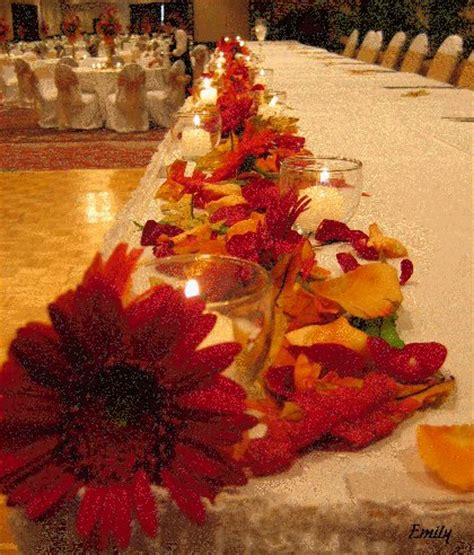 fall decorations for wedding reception fall wedding decorating ideas