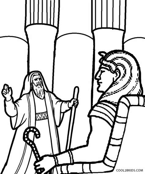 Printable Moses Coloring Pages For Kids Cool2bkids Pharaoh Coloring Pages