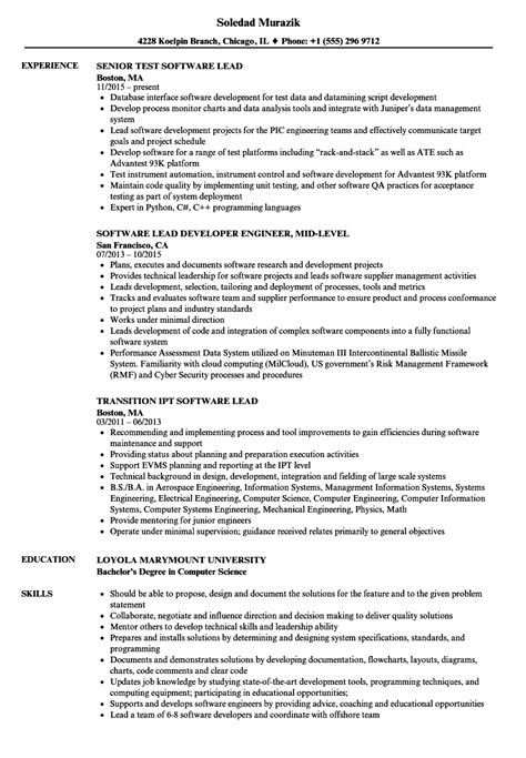 Lead Software Developer Cover Letter by Resume Cover Letter Exles For Dispatcher Resume With No Work Experience High School Graduate
