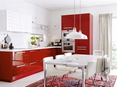 Formidable Salle A Manger Grise Conforama #7: Cuisine-Ikea-Metod-RINGHULT-rouge-800x599.jpg
