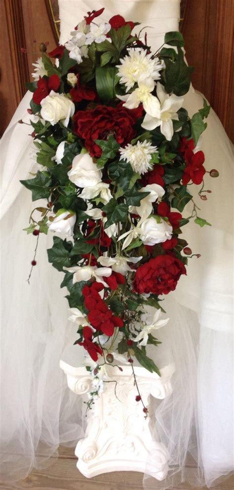 Large Wedding Flowers by Bridal Bouquet Cascade Bouquet Winter Bouquet Large
