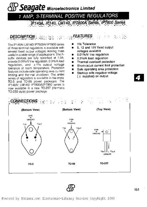 transistor lm7805 lm7805 iso 1128336 pdf datasheet ic on line
