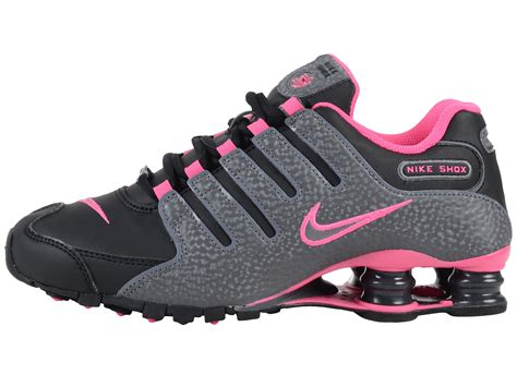Pink Grey Shoes nike shox pink and grey