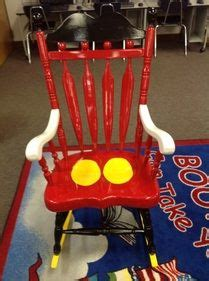 rocking chair painted to resemble mickey mouse i used
