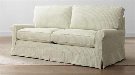 harborside stripe slipcovered sleeper sofa crate