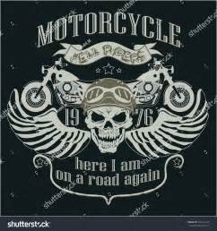 motorcycle design template logo motorcycle skull stock
