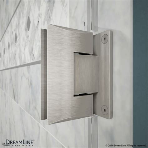 Hinged Glass Shower Door Unidoor 53 61 Hinged Shower Door With Glass Shelves Dreamline
