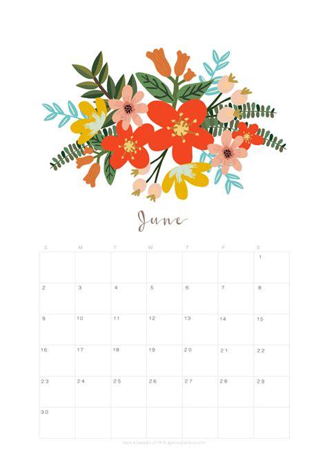 printable june  calendar monthly planner  designs