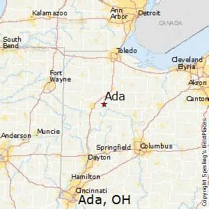 Ada Ohio Map best places to live in ada ohio