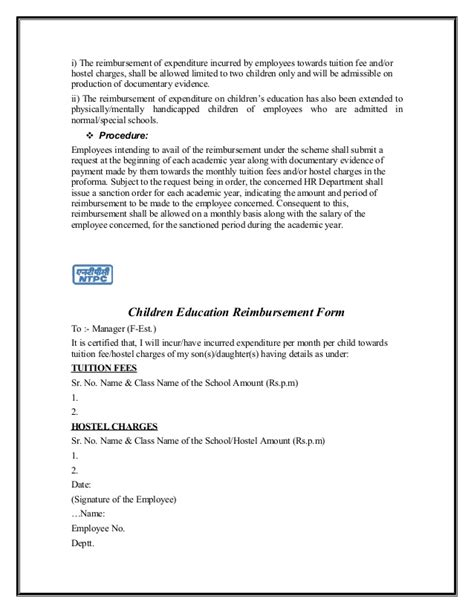 Tuition Reimbursement Mba by Application For Tuition Reimbursement Hashdoc Best