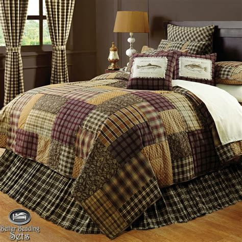 cabin lodge canoe fishing full queen comforter set 8 pcs bedding home decor ebay fishing comforter sets themed bedding for twin bed ecfq info