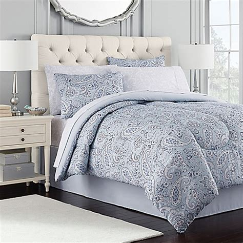 royal ascot comforter set in blue bed bath beyond