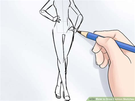 Simple Drawing Menggambar Tubuh the simplest way to draw fashion sketches wikihow