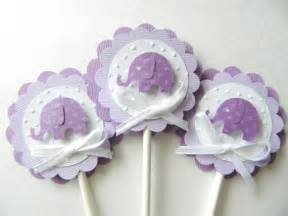 Purple Elephant Baby Shower Decorations by Purple Elephant Cupcake Topper Lavender Elephant Shower