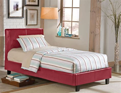 red twin bed new york red twin upholstered bed from standard furniture