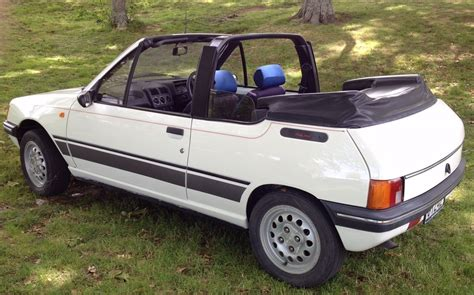 peugeot convertible curbside capsule 1989 peugeot 205 convertible fun in