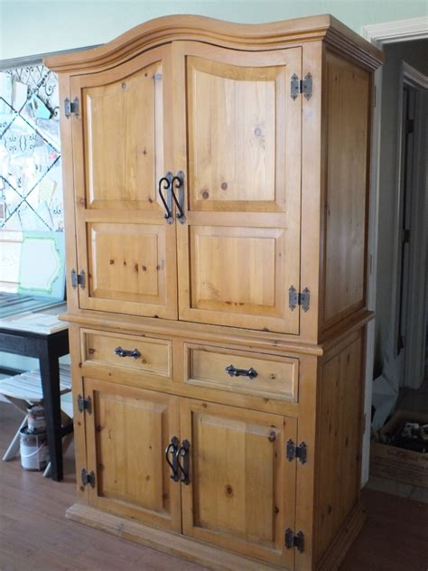 Rustic Pine Armoire by Tired Of The Rustic Pine Look Armoire Facelift 187 House