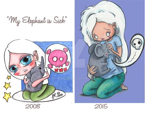 my is sick my elephant is sick revised by smushbox on deviantart