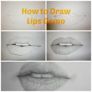 how to draw realistic lips drawing tutorial paint into