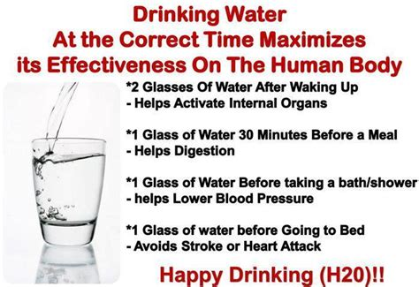 drinking water before bed drinking water at the correct time maximizes its